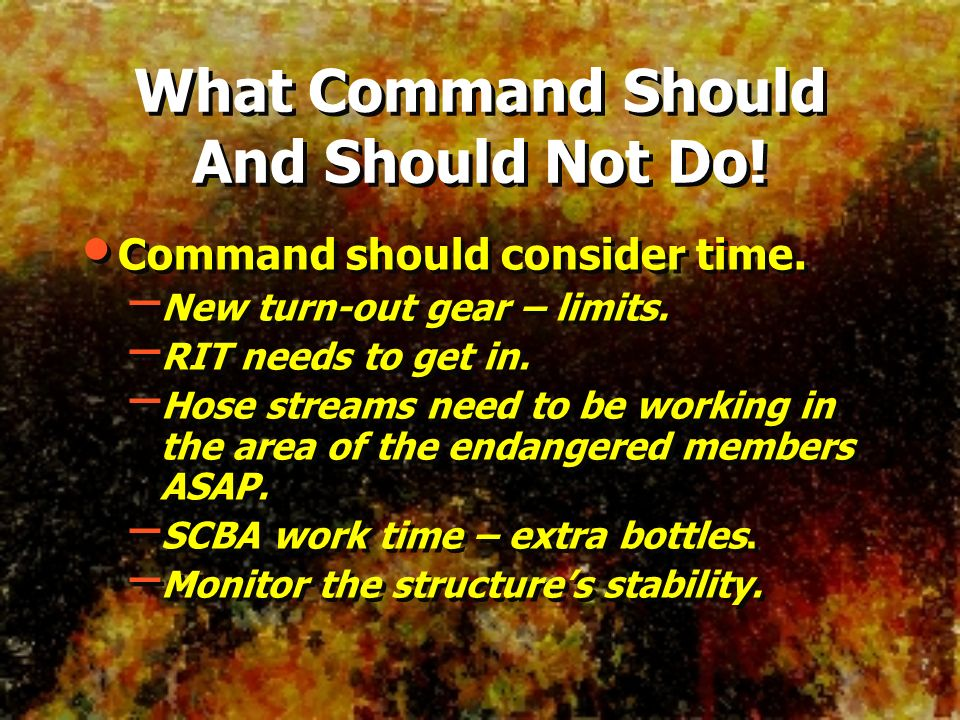 What Command Should And Should Not Do!