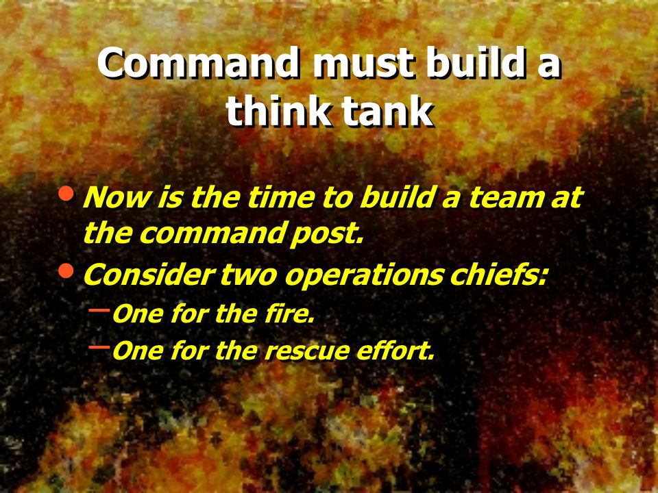 Command must build a think tank