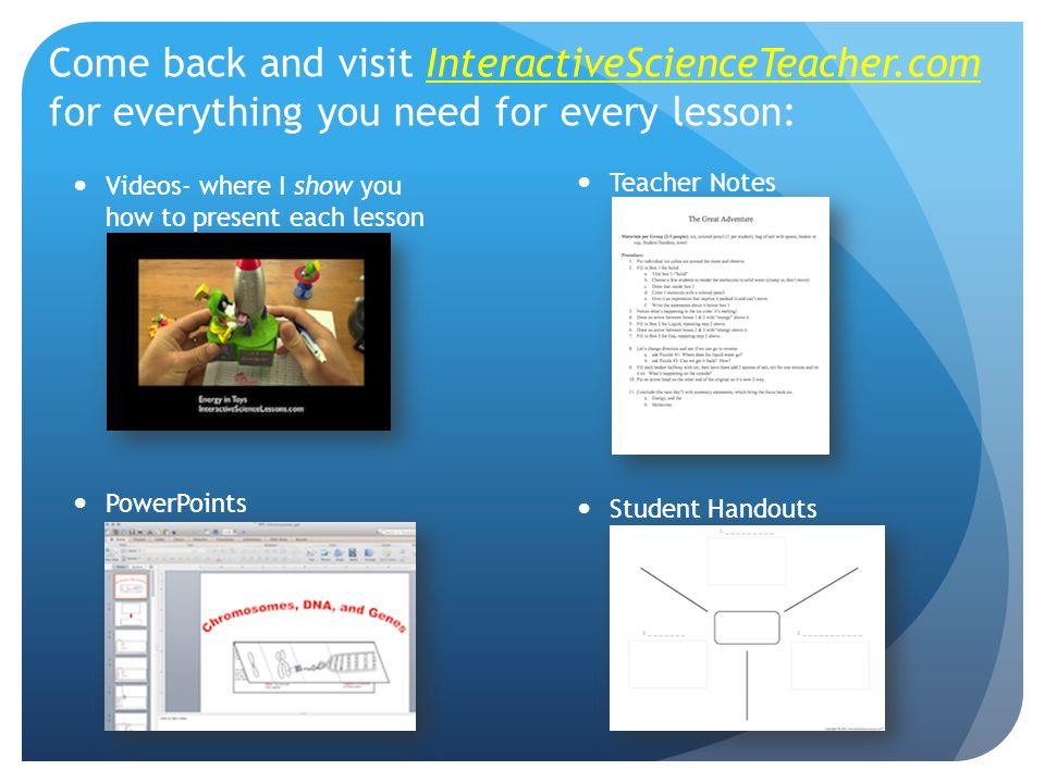 Come back and visit InteractiveScienceTeacher