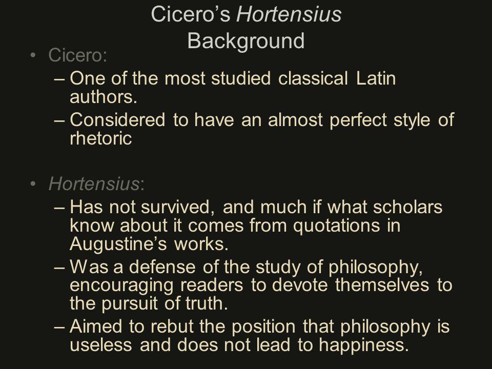 Cicero's Hortensius Background