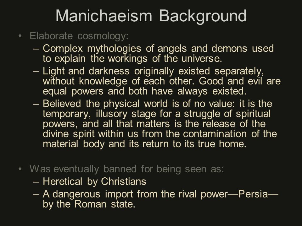Manichaeism Background