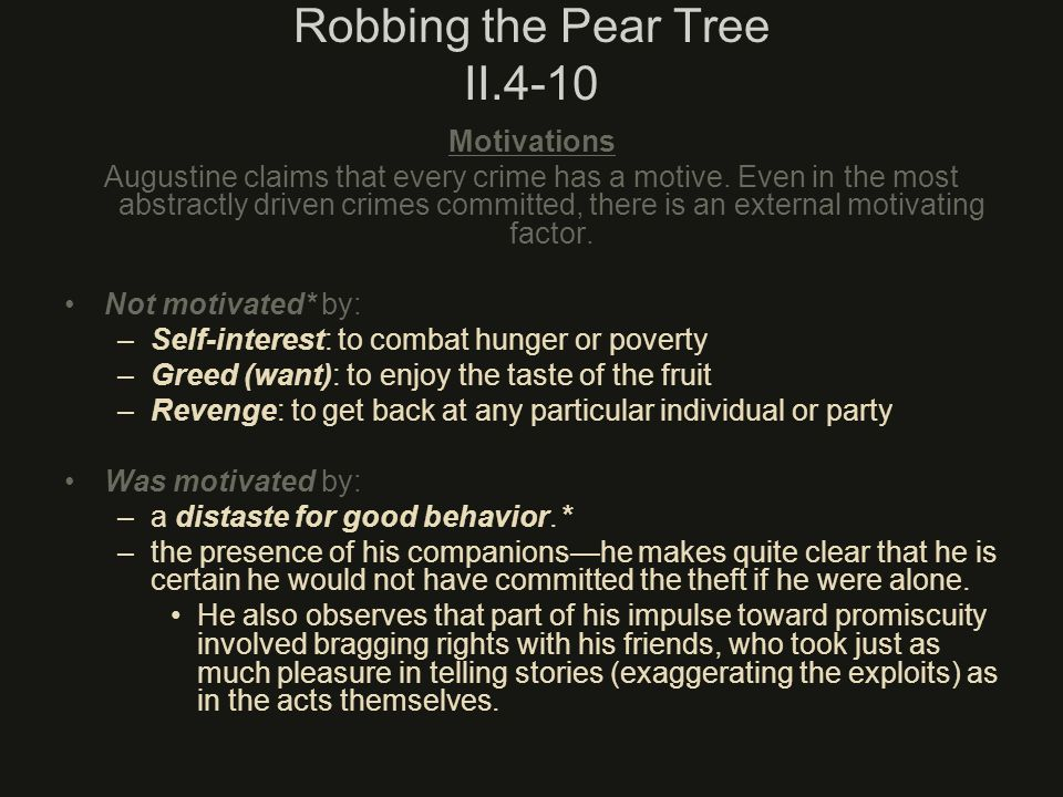 Robbing the Pear Tree II.4-10
