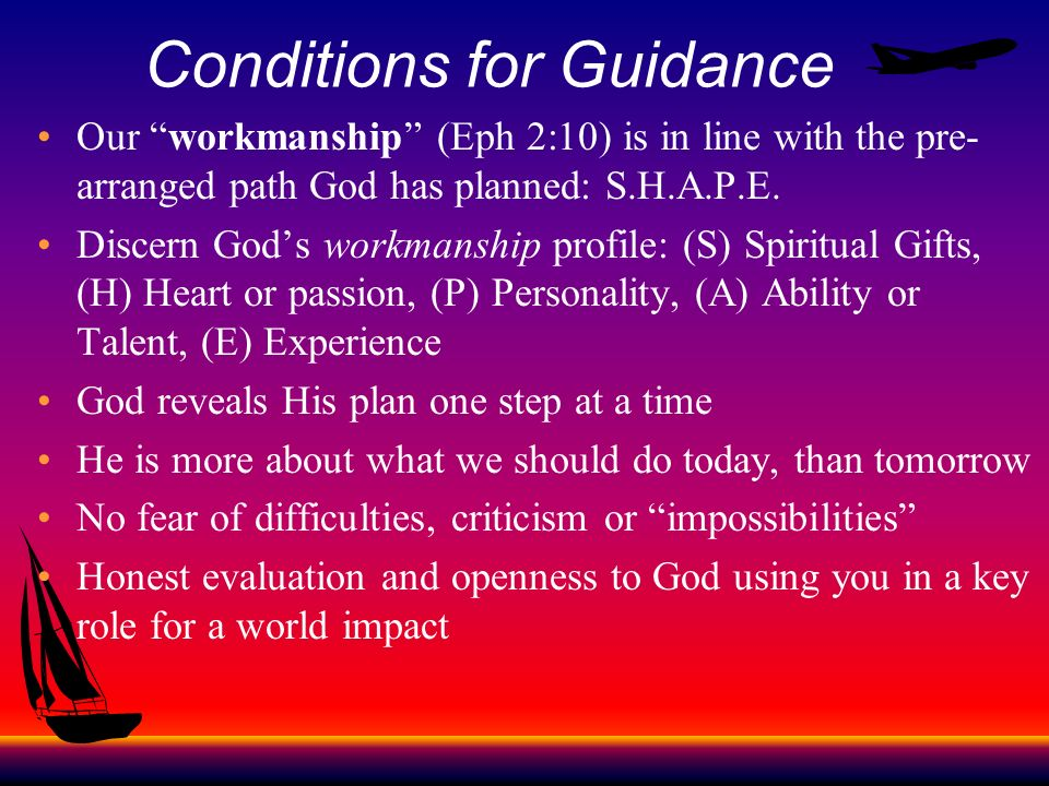 Conditions for Guidance