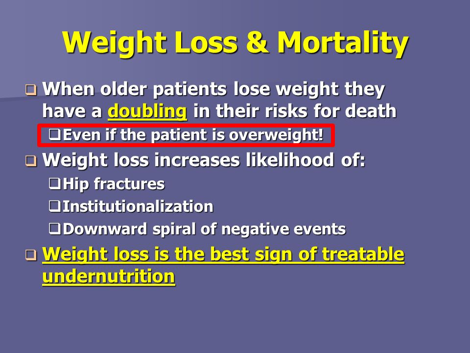 Weight Loss & Mortality