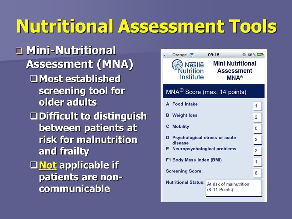 Nutritional Assessment Tools