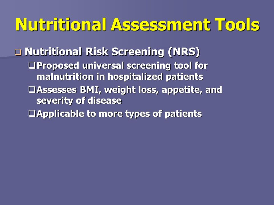 geriatric assessment malnutrition Mini nutritional assessment in the elderly: living alone, with family and nursing home in turkey author(s):  detection of malnutrition is important to allow targeted nutritional intervention and should be a key component of the geriatric assessment the mna is an 18‐item questionnaire comprising anthropometric measurements (bmi, mid‐arm.