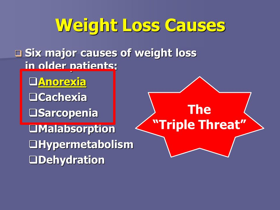 Weight Loss Causes The Triple Threat