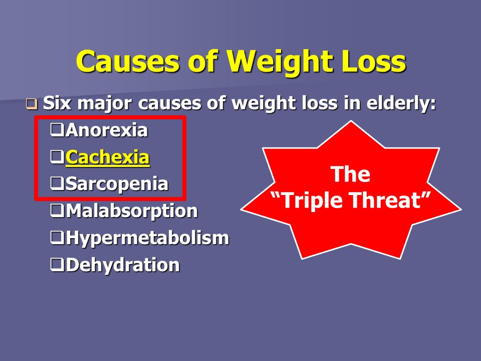 Causes of Weight Loss The Triple Threat