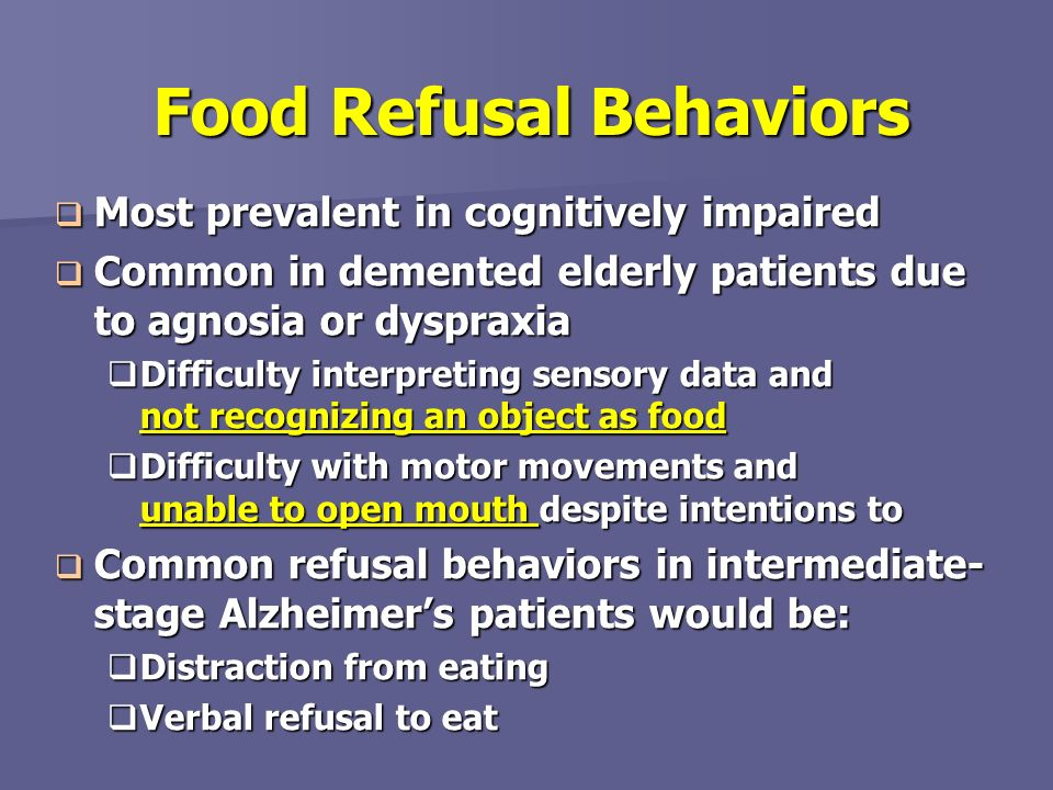 Food Refusal Behaviors