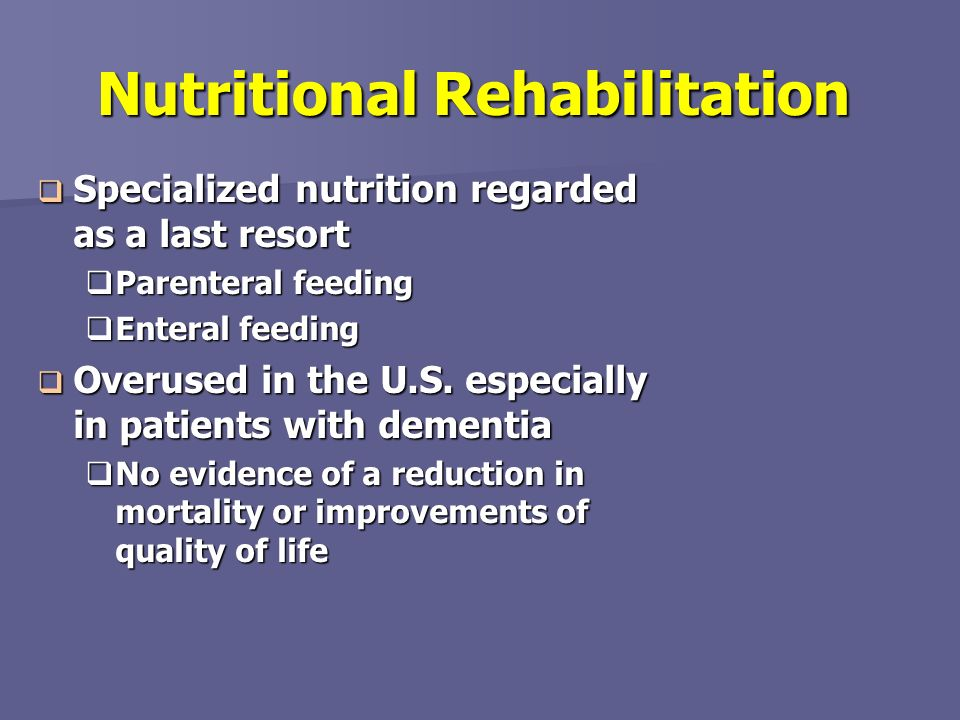 Nutritional Rehabilitation