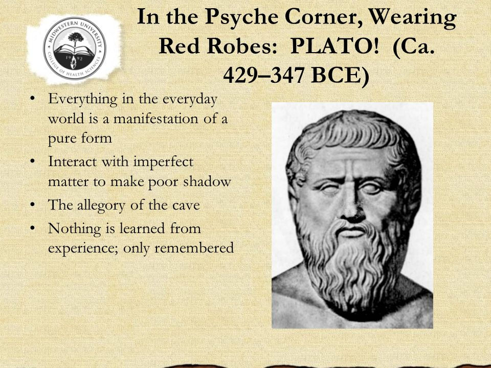 In the Psyche Corner, Wearing Red Robes: PLATO! (Ca. 429–347 BCE)