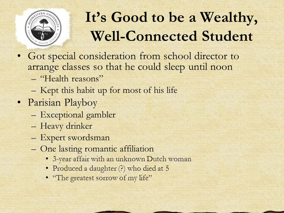 It's Good to be a Wealthy, Well-Connected Student