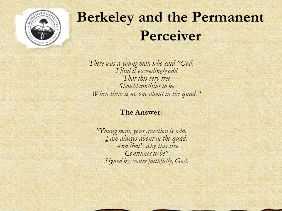 Berkeley and the Permanent Perceiver