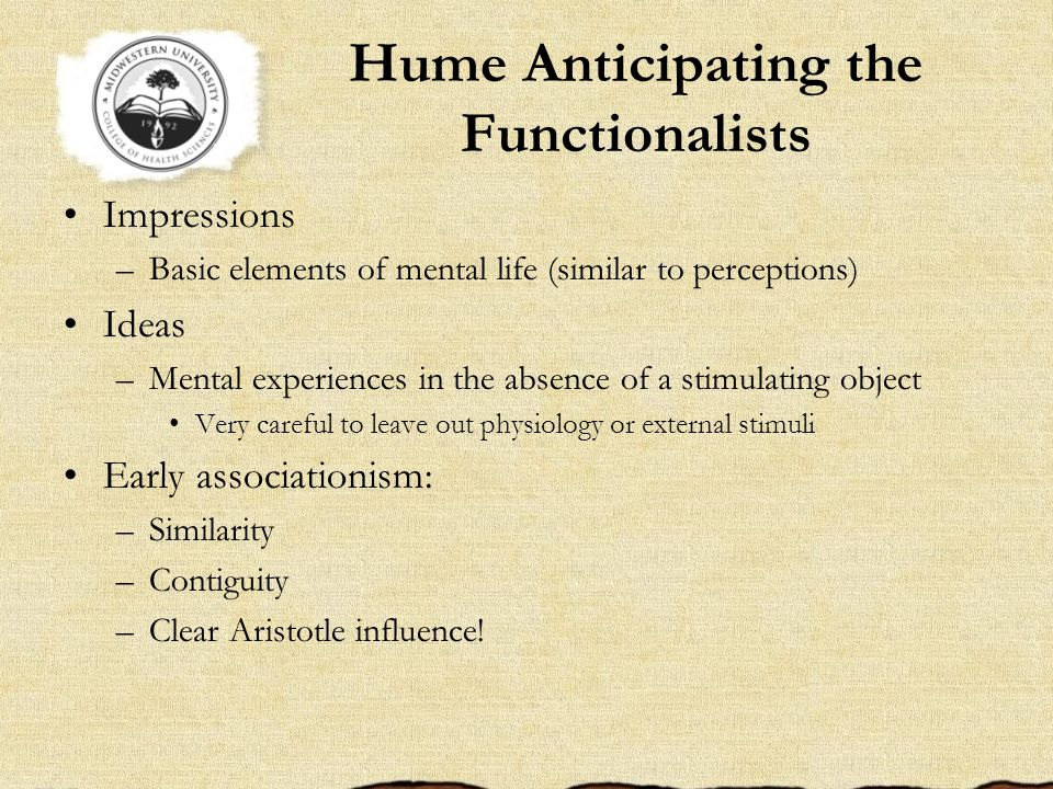 Hume Anticipating the Functionalists