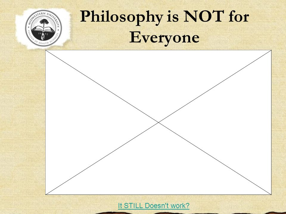 Philosophy is NOT for Everyone
