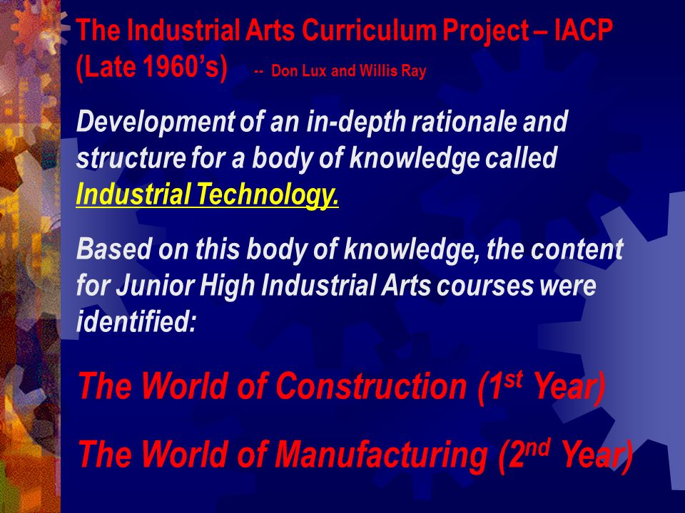 The World of Construction (1st Year)