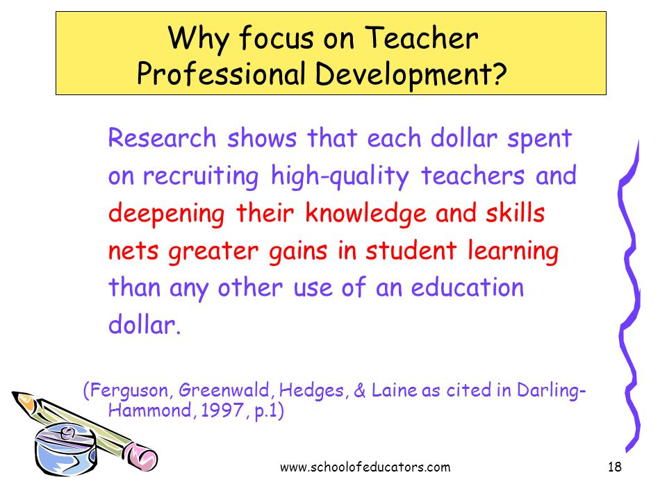 Why focus on Teacher Professional Development