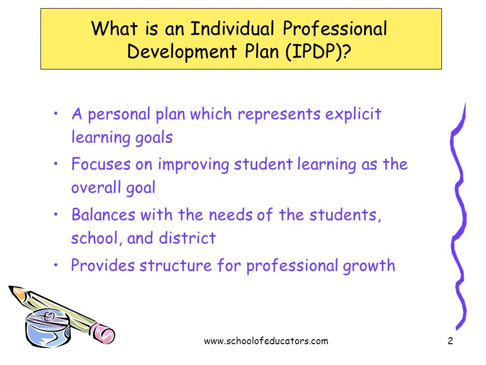 What is an Individual Professional Development Plan (IPDP)
