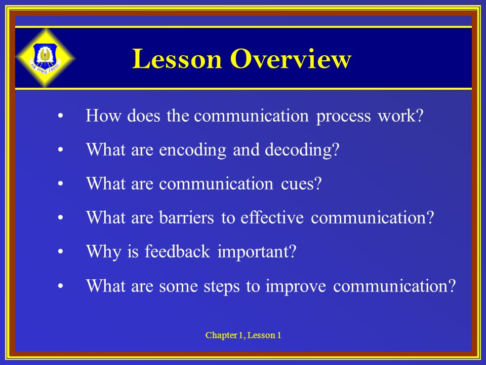 Lesson Overview How does the communication process work