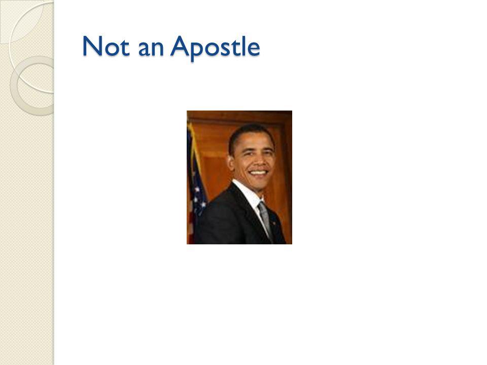 Not an Apostle