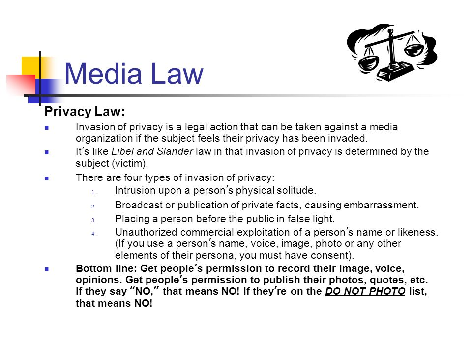 Media Law Privacy Law: