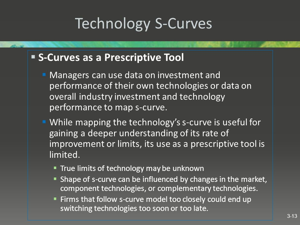 Technology S-Curves S-Curves as a Prescriptive Tool