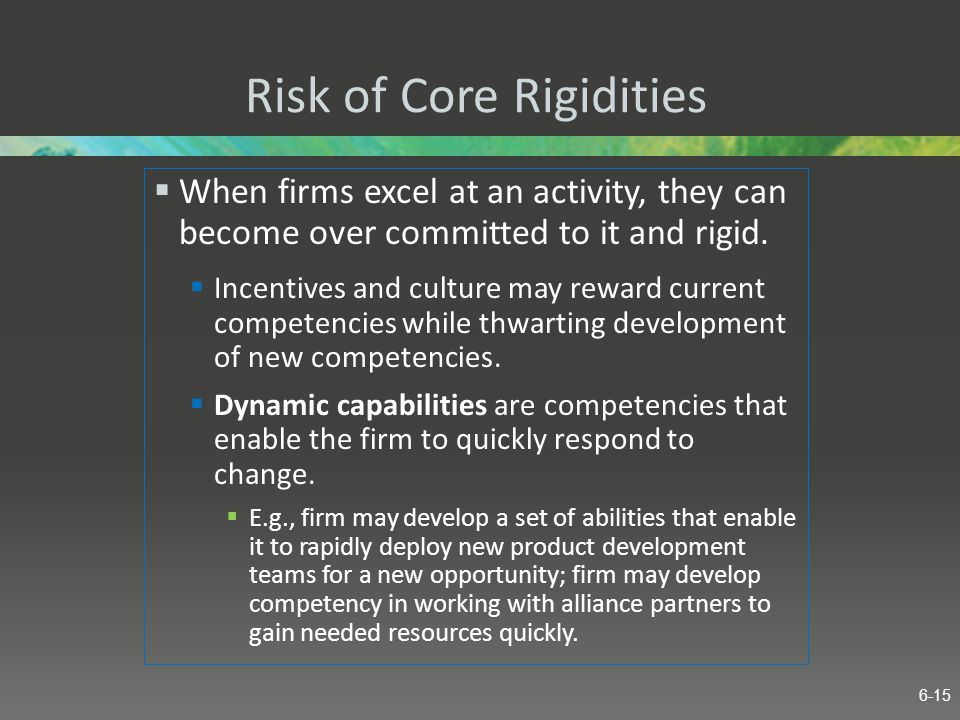 Risk of Core Rigidities