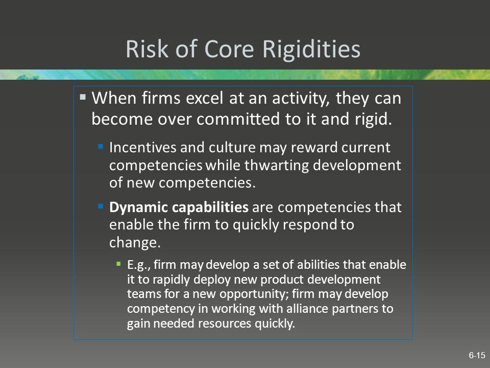 Risk of Core Rigidities