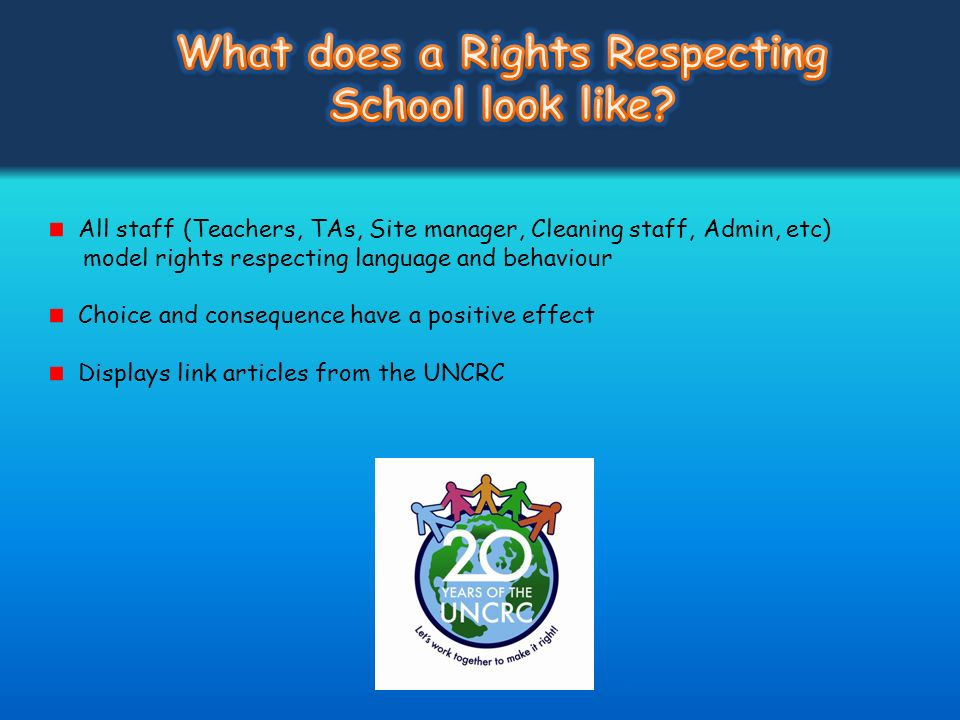 What does a Rights Respecting School look like