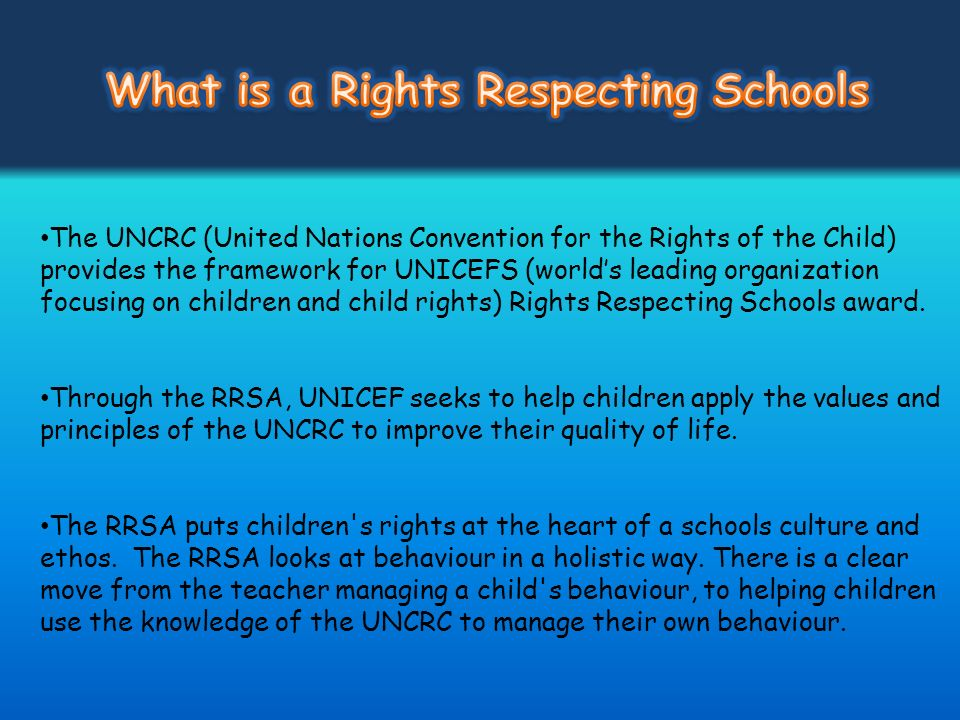 What is a Rights Respecting Schools