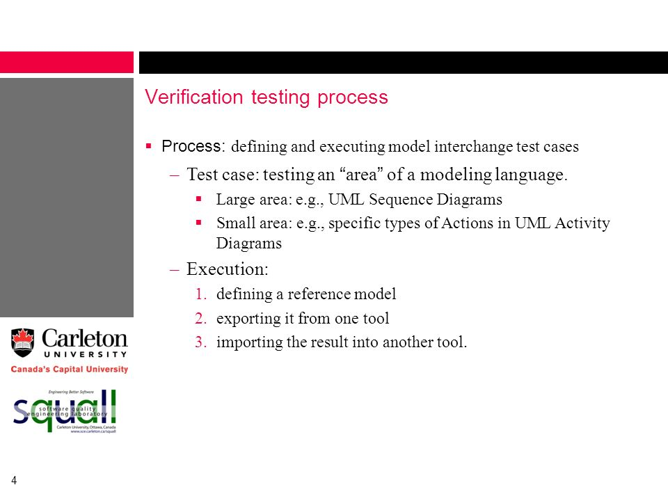 Verification testing process