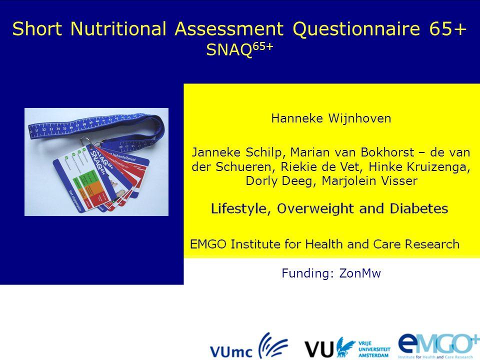 Short Nutritional Assessment Questionnaire 65+