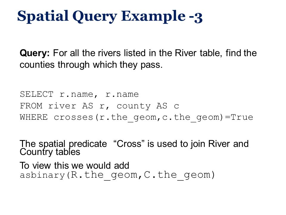 Spatial Query Example -3