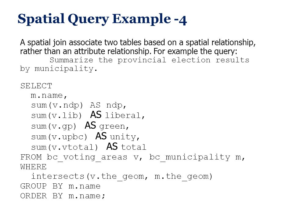 Spatial Query Example -4