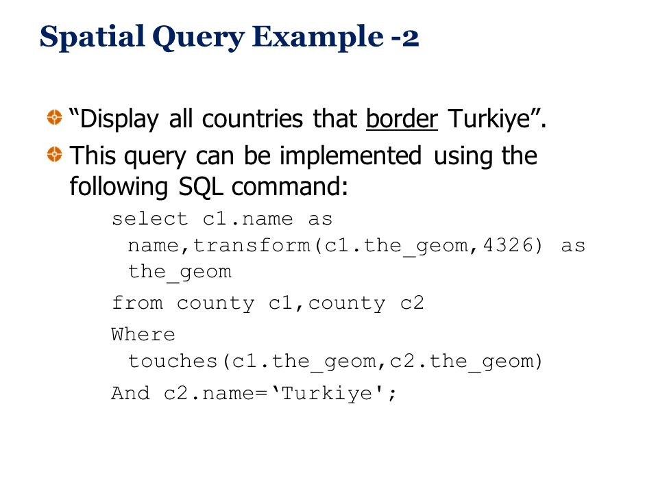 Spatial Query Example -2