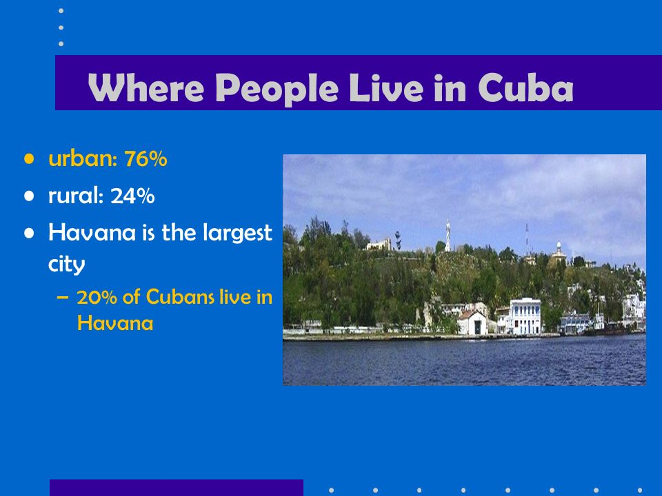 Where People Live in Cuba