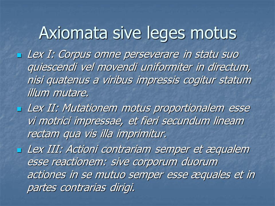 Axiomata sive leges motus
