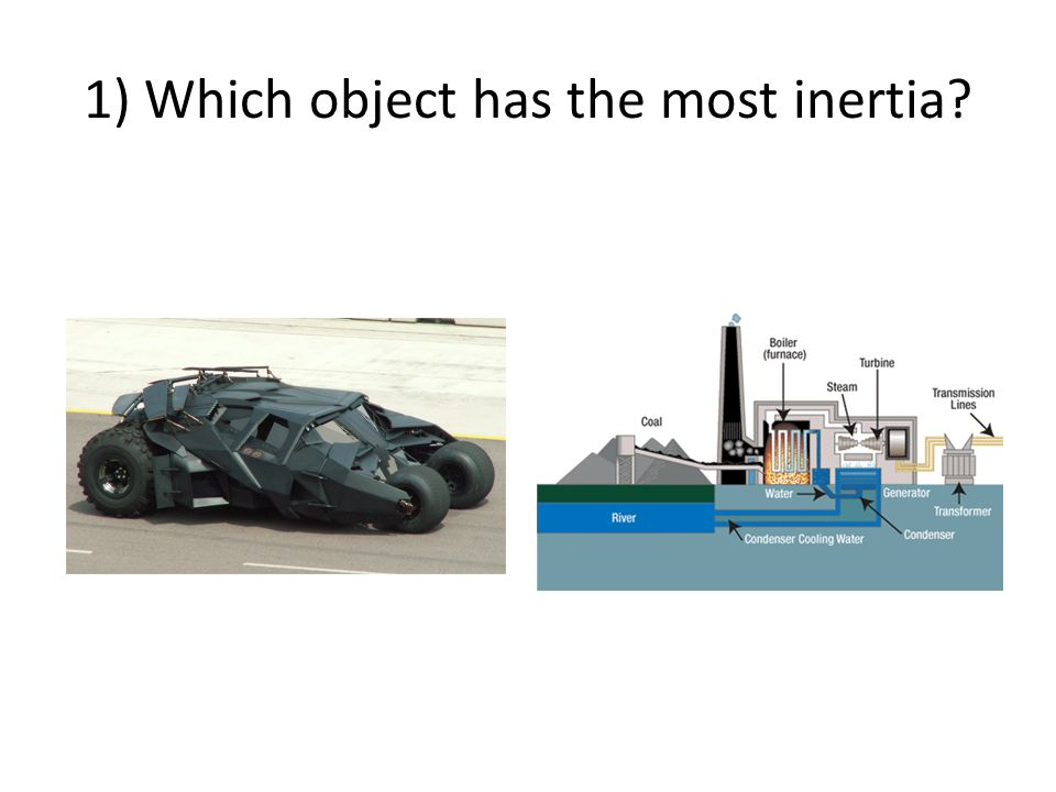 1) Which object has the most inertia