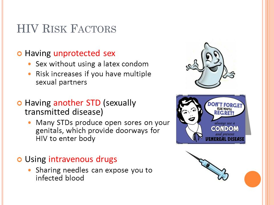 HIV Risk Factors Having unprotected sex