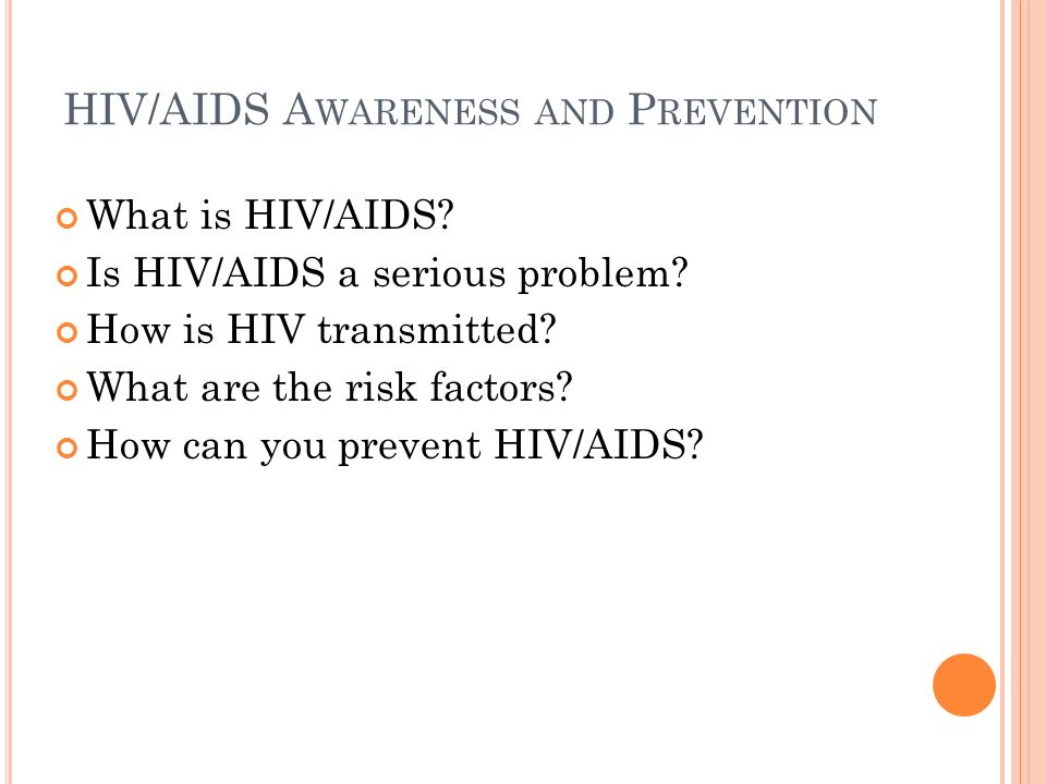 HIV/AIDS Awareness and Prevention