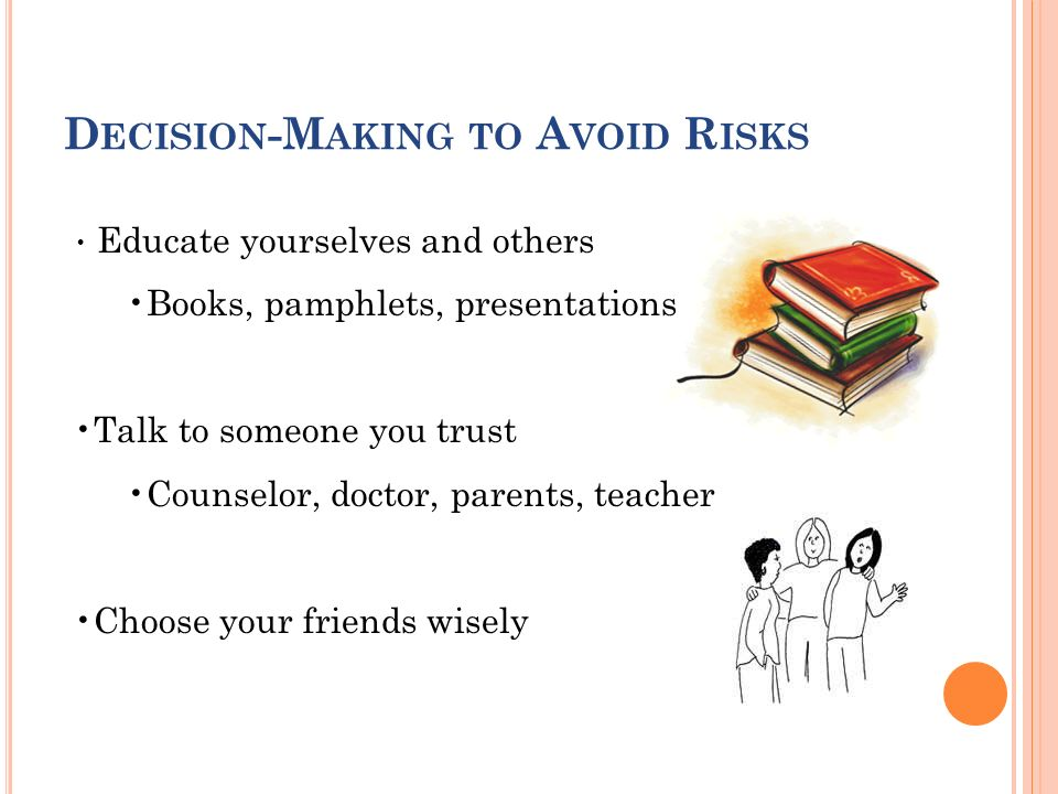 Decision-Making to Avoid Risks