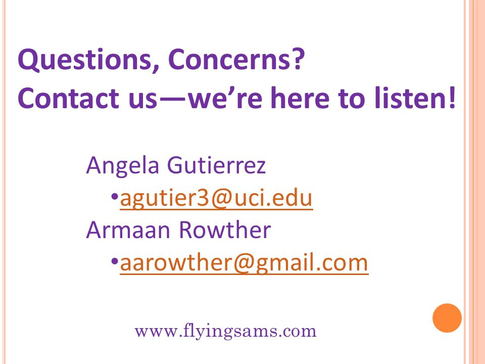 Contact us—we're here to listen!