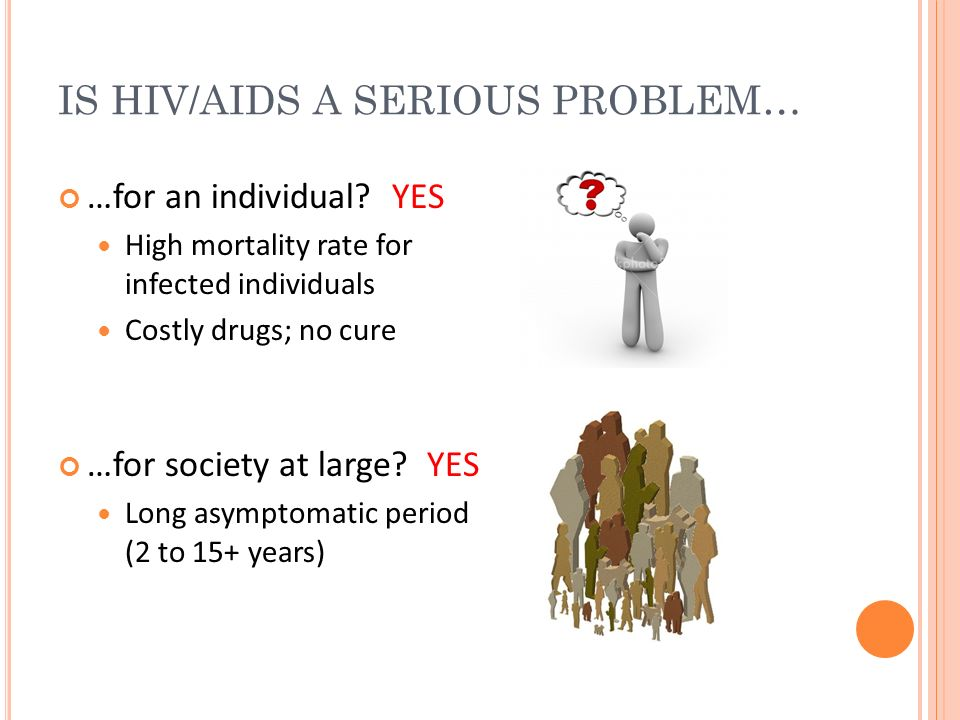 IS HIV/AIDS A SERIOUS PROBLEM…