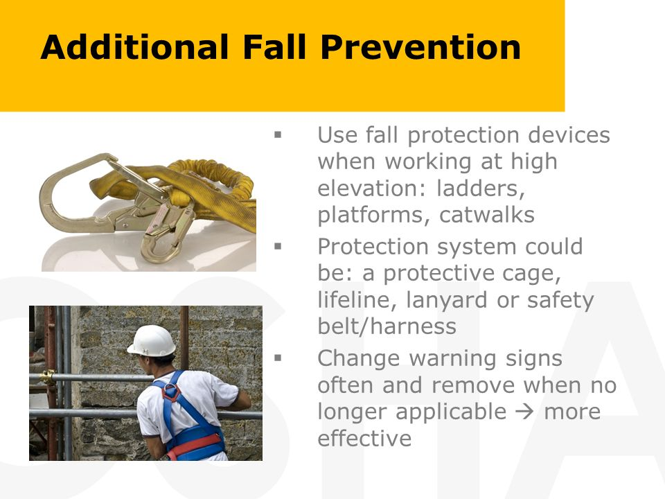 Additional Fall Prevention