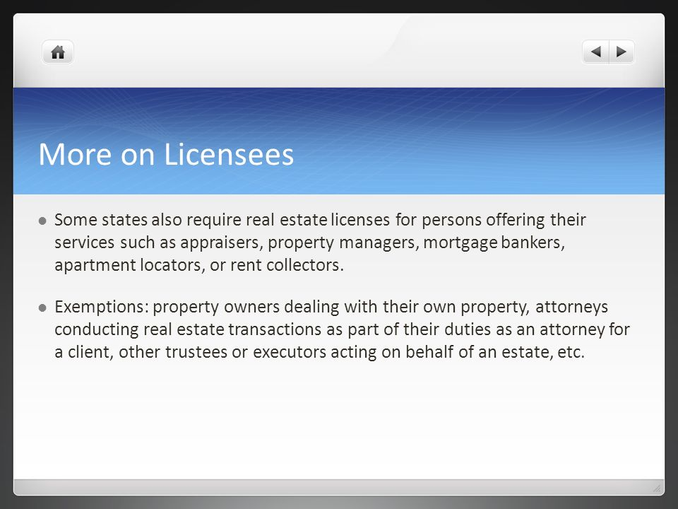 More on Licensees