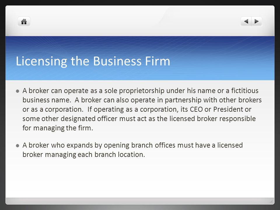 Licensing the Business Firm