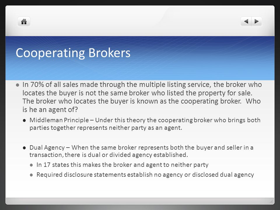 Cooperating Brokers