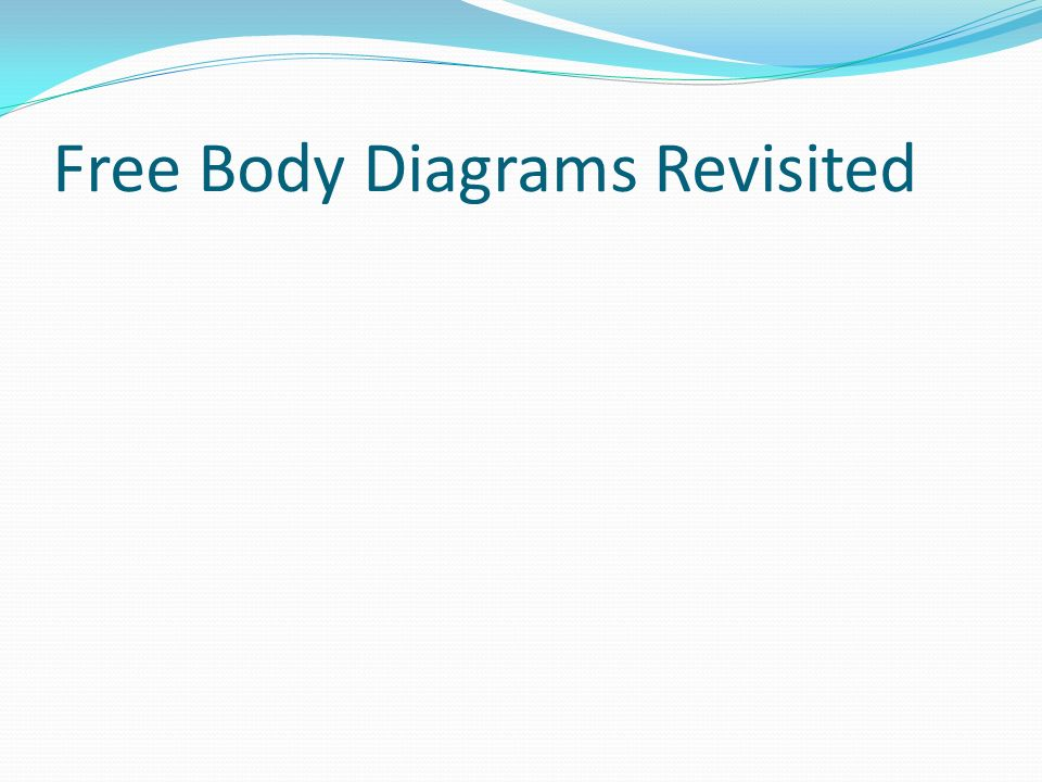 Free Body Diagrams Revisited