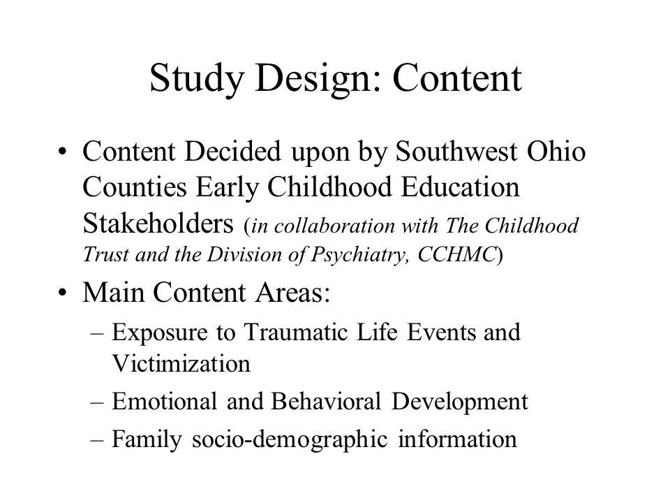 Study Design: Content