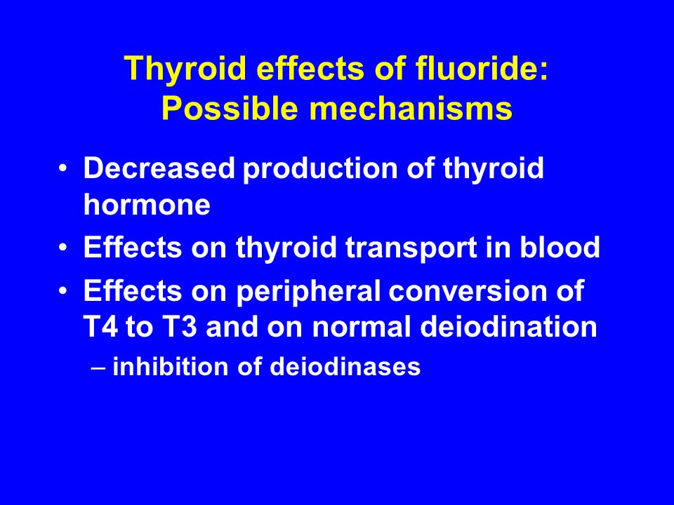 Thyroid effects of fluoride: Possible mechanisms